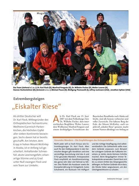 """""""Eiskalter Riese"""" - Orthopädisches Fachzentrum Weilheim Garmisch ..."""