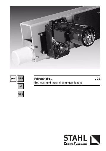 Fahrantriebe _ Betriebs- und Instandhaltungsanleitung