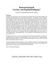 Bontrup/Springob Gewinn- und Kapitalbeteiligung - Arbeitsgruppe ...