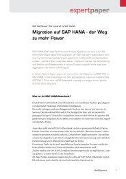Migration auf SAP HANA - itelligence