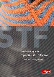 Specialist Knitwear - Schweizerische Textilfachschule STF