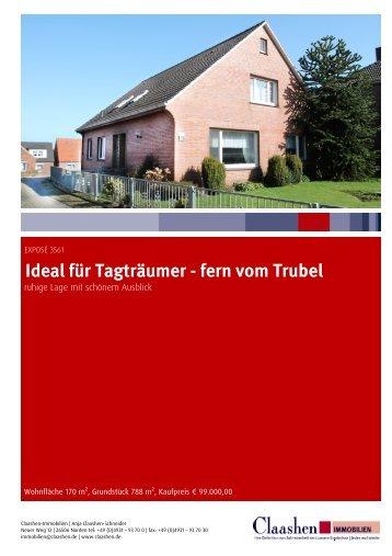 Ideal für Tagträumer - fern vom Trubel - Claashen Immobilien Norden