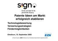 Patente Ideen am Markt erfolgreich etablieren
