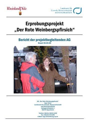 Vorläufiger Schlussbericht.pdf - LUWG - in Rheinland-Pfalz
