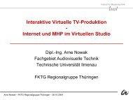 Folien zum Vortrag (1,4 MB) - Technische Universität Ilmenau
