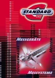 Messgeräte Hochgenaues Messen Messysteme - Standard Gage