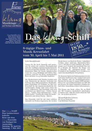 Das klang-Schiff Das klang-Schiff - Godi Betschart Touristik