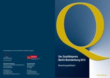 Bewerbungsleitfaden Q-Preis 2012 - Berlin-Brandenburg.de