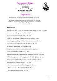 Angebotsliste als PDF herunterladen - Partyservice Ringel