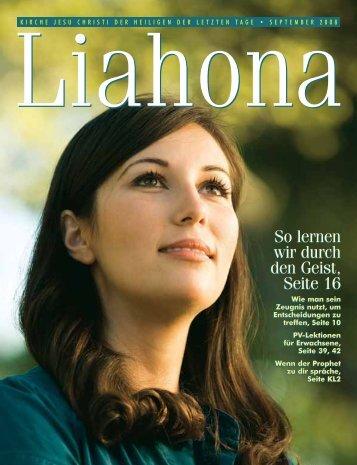 September 2008 Liahona - Kirche Jesu Christi der Heiligen der ...