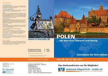 Vom 09. bis 16. Mai 2013 Volksbank Wipperfürth - Lindlar eG