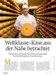 Weltklasse-Käse aus der Nähe betrachtet