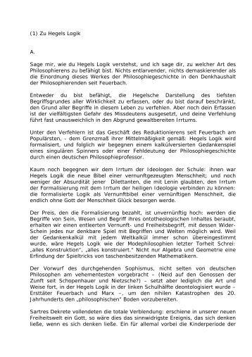 (1) Zu Hegels Logik - Leo-dorner.net