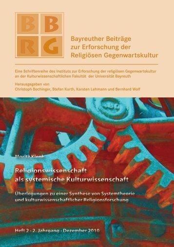 Volltext (pdf) - Bayreuther Beiträge zur Erforschung der religiösen ...