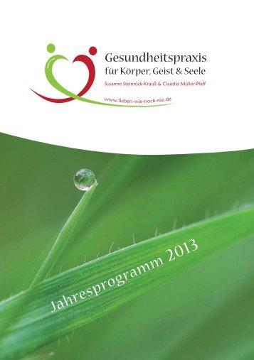 Jahresprogramm 2013 - Lieben-wie-noch-nie.de