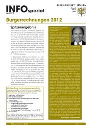INFOspezial April 2013 - Rechnung 2012 - Burgerschaft Naters