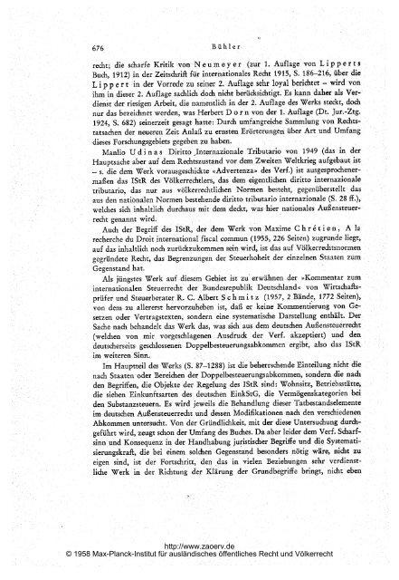 Völkerrecht und Landesrecht im internationalen Steuerrecht (IStR)