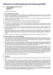 Allgemeine Geschäftsbedingungen Dienstleistungen(AGB)