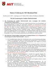 Mainzer Erklärung der MIT Rheinland-Pfalz