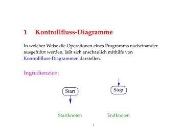 1 Kontrollfluss-Diagramme
