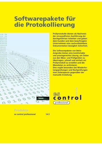 Softwarepakete für die Protokollierung
