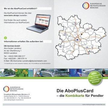 Die AboPlusCard - Europäische Metropolregion München