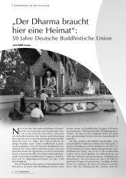 """""""Der Dharma braucht hier eine Heimat"""": - Tibetisches Zentrum eV"""