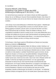 Susanne Albrecht, Unter Zwang Ausstellung in der Galerie im Studio ...