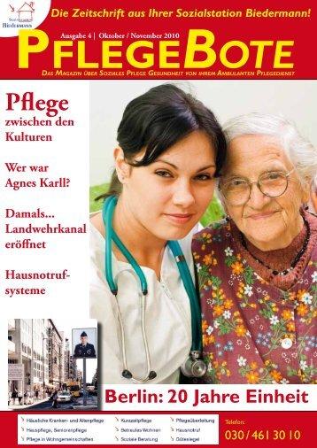 Pflegebote 4 (Oktober / November 2010) PDF - Sozialstation ...