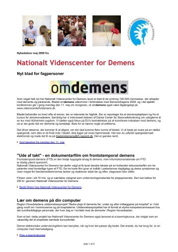 Nationalt Videnscenter for Demens