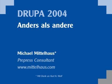 DRUPA Vorschau.qxd - Mittelhaus