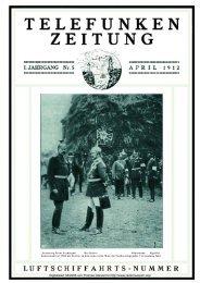Telefunken-Zeitung 1.Jahrgang Nr.5 April 1912 - Radiomuseum.org