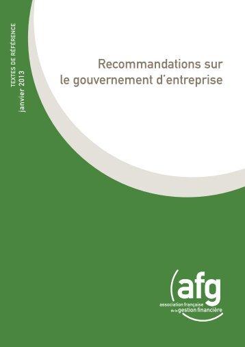 Recommandations sur le gouvernement d'entreprise - Middlenext