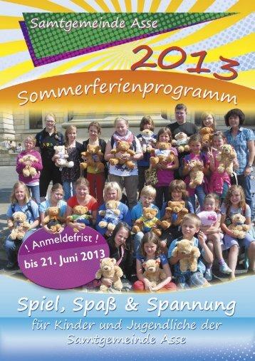 Ferienprogramm Sommer 2013 - Samtgemeinde Asse