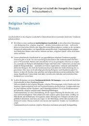 Religiöse Tendenzen - Arbeitsgemeinschaft der Evangelischen ...