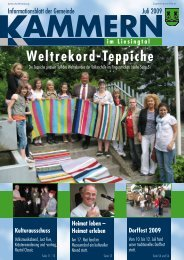 Gemeindezeitung Juli 2009 - Gemeinde Kammern im Liesingtal