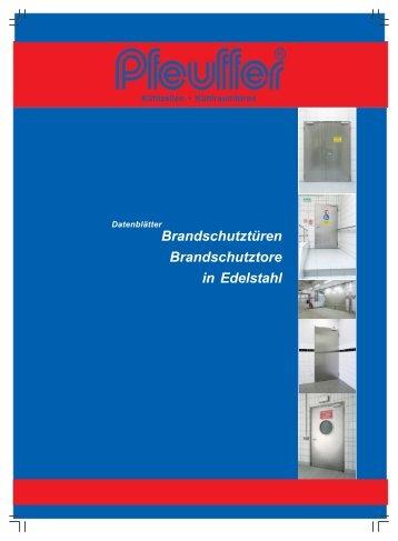 Brandschutztür Prospekt - Pfeuffer GmbH