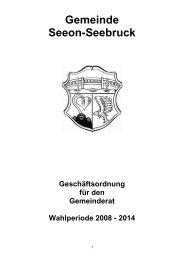 Geschäftsordnung für den Gemeinderat - Seeon - Seebruck