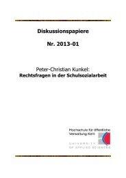 Diskussionspapiere Nr. 2013-01 Peter-Christian ... - Hochschule Kehl