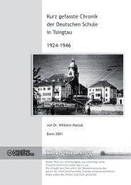 Kurz gefasste Chronik der Deutschen Schule in ... - Tsingtau.org