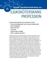 SjuKSKötErSKANS profESSIoN - Svensk sjuksköterskeförening