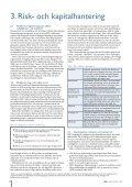 Kapitaltäckning och riskhantering - Pelare 3 2009 - Page 6