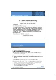 E-Mail Verschlüsselung - ITEK - ETH Zürich