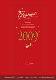 Weihnachten & Silvester - Restaurant Reinhards
