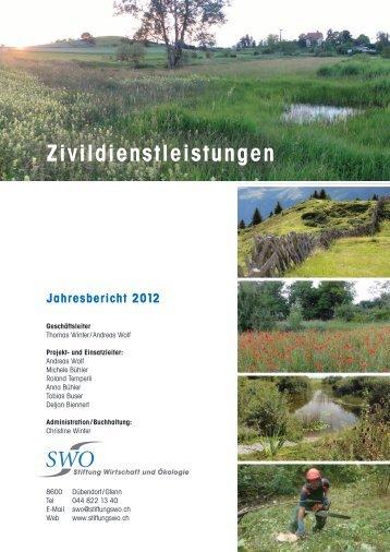 Jahresbericht 2012 - Stiftung Wirtschaft und Ökologie SWO