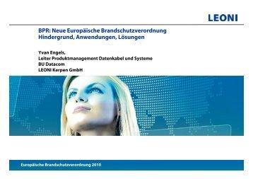 Europäische Brandschutzverordnung 2010 - LEONI Infrastructure ...