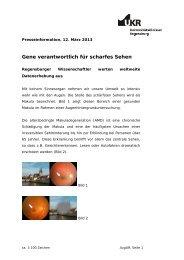 Gene verantwortlich für scharfes Sehen - Universitätsklinikum ...
