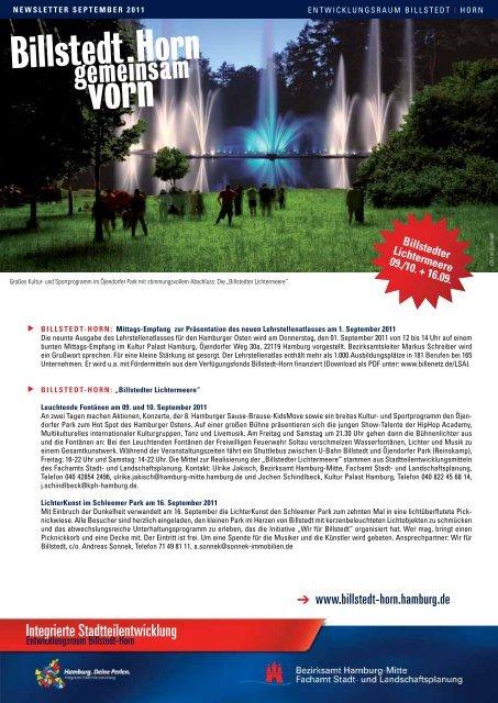 Newsletter Billstedt-Horn, September 2011 - Entwicklungsraum ...