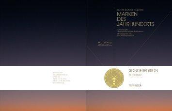 MARKEN DES JAHRHUNDERTS - Seeberger
