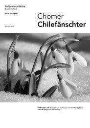 Chomer Chilefänschter - Februar 2013 - Reformierte Kirche Zug